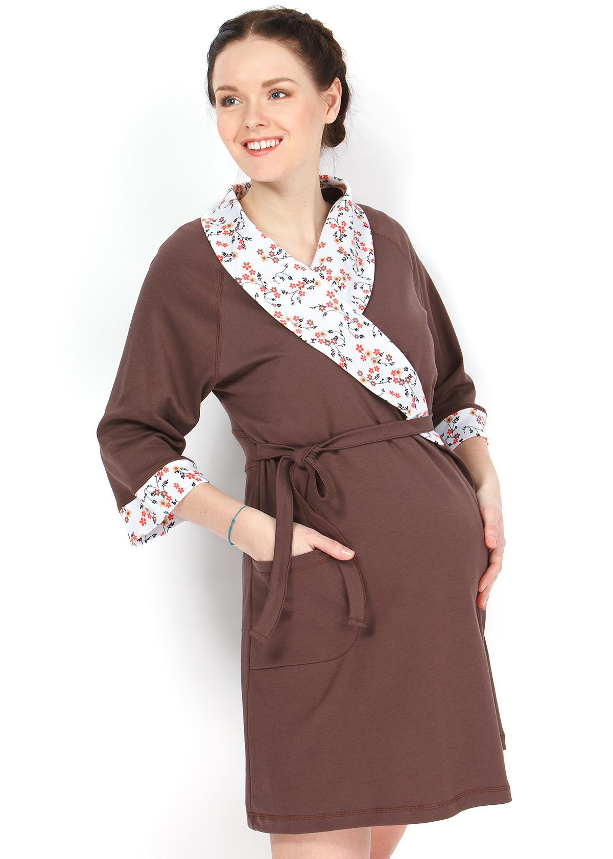 719476d3b308 Комплект для роддома «Амели» (сорочка+халат) для беременных и кормящих,