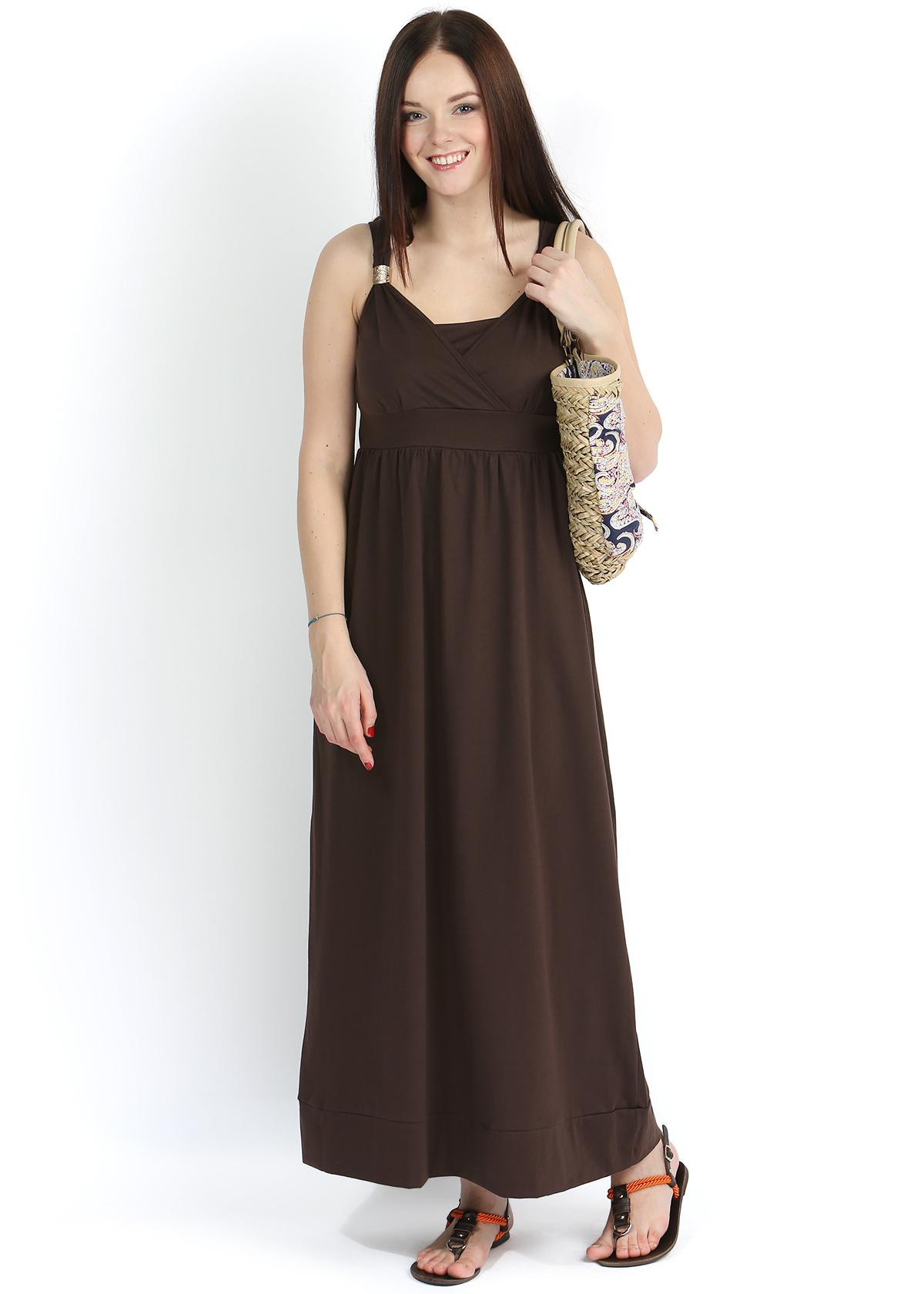сарафан коричневый с чем носить фото