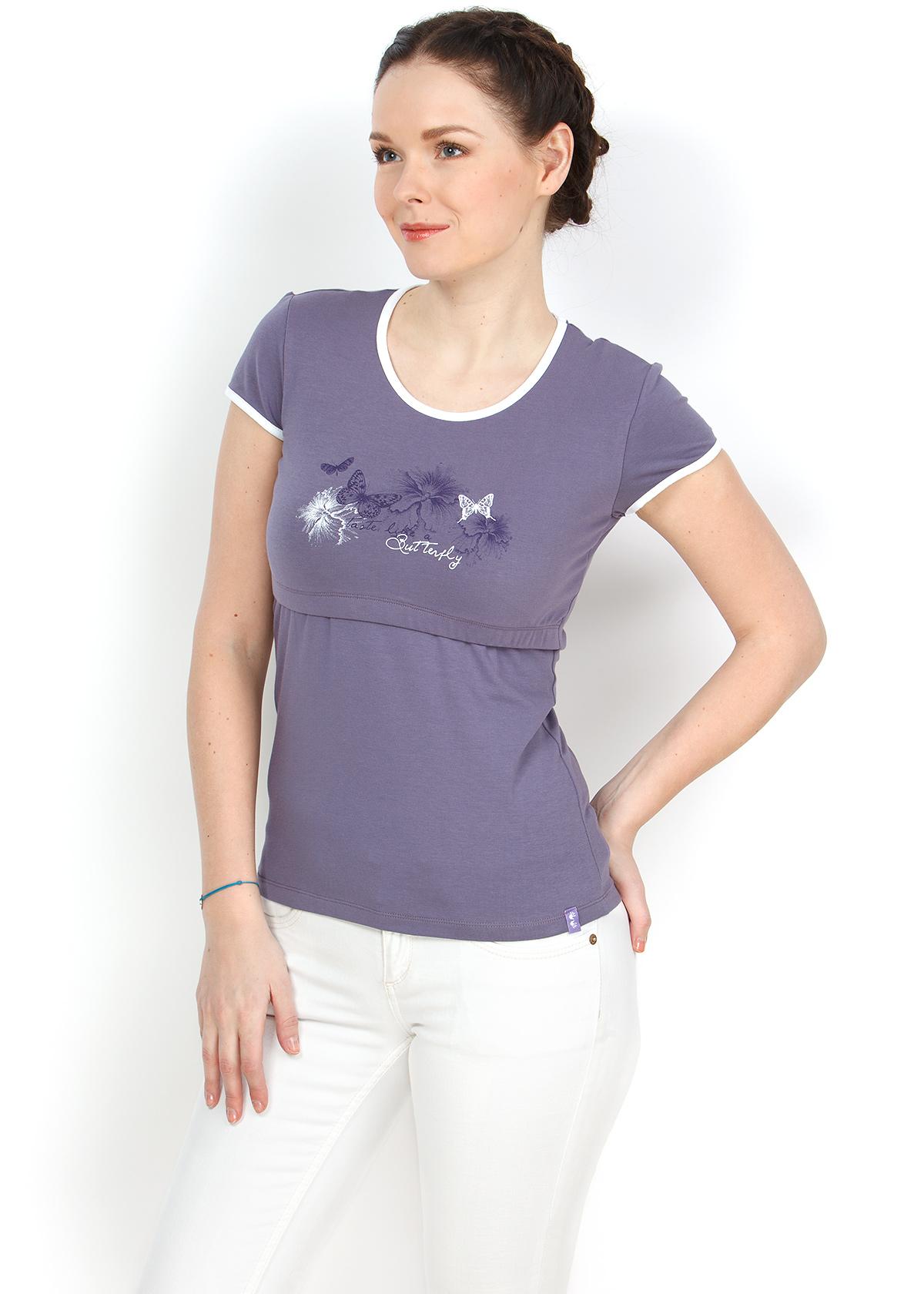 Футболка ФХ03 лаванда для кормления грудью, купить в Минске, женская  футболка для кормящих грудью 46938201f01