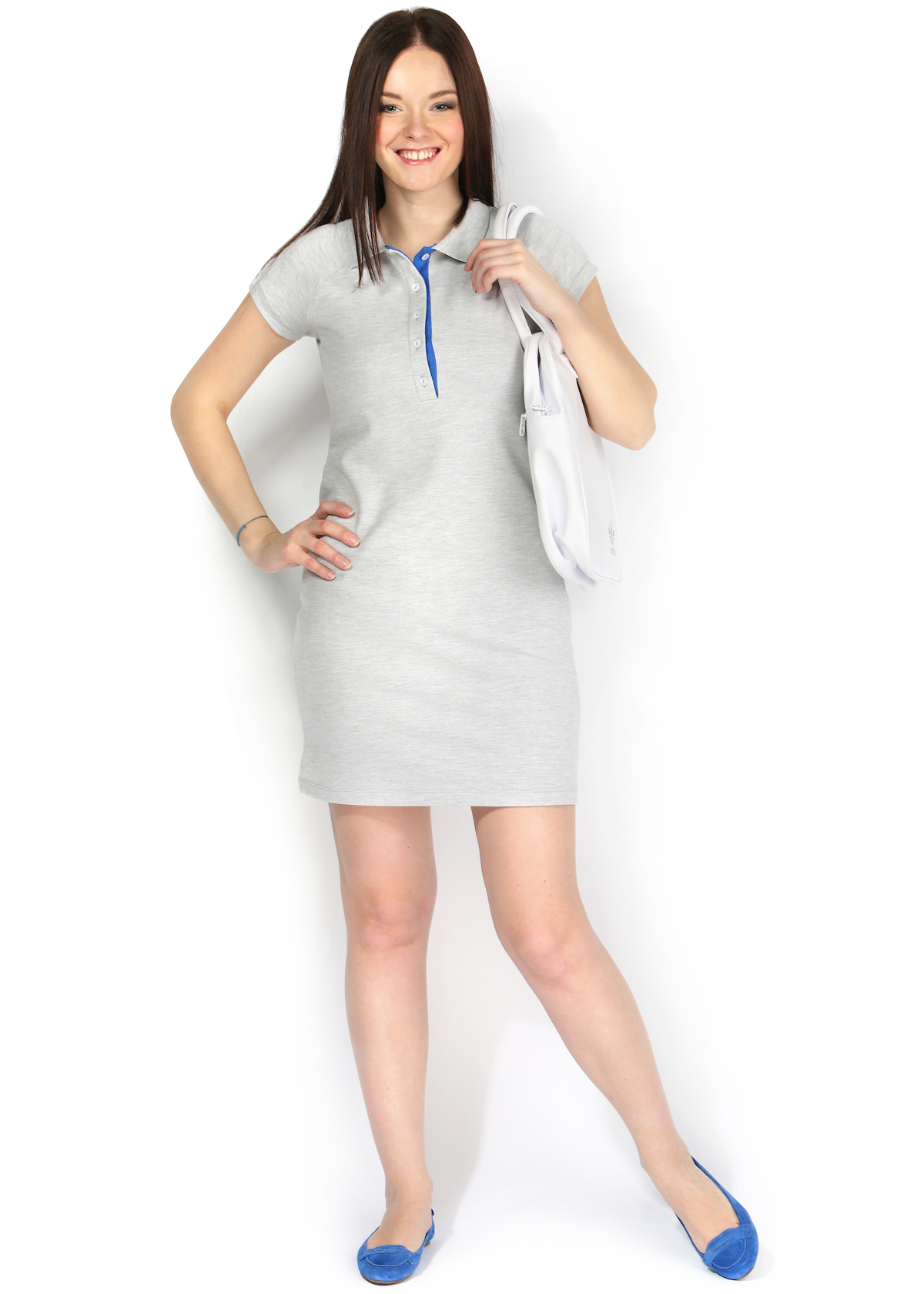 7b97af4cf0d1284 Платье «Поло» меланж для кормления грудью | Интернет-магазин MamaMia ...