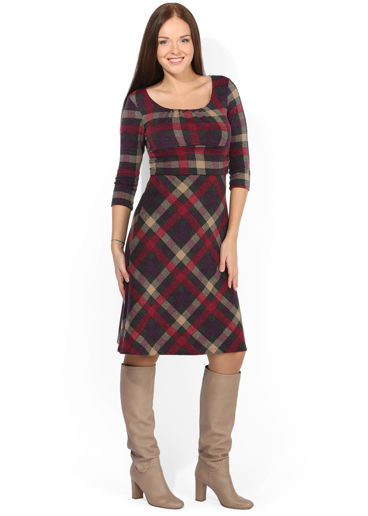 Платья из шотландки для беременных 79