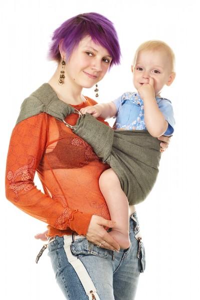 4a16fb556def Купить слинг с кольцами саржевого плетения (Мать-ехидна)