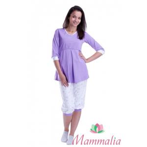 Пижама для беременных и кормящих мам Сиреневые мишки ( туника + бриджи) 8ff876dadd6
