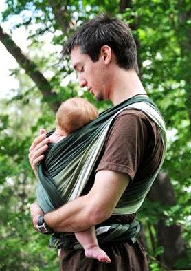 Gypsymama Bali Stretch Alyssa.  Трикотажный слинг-шарф для новорожденных.