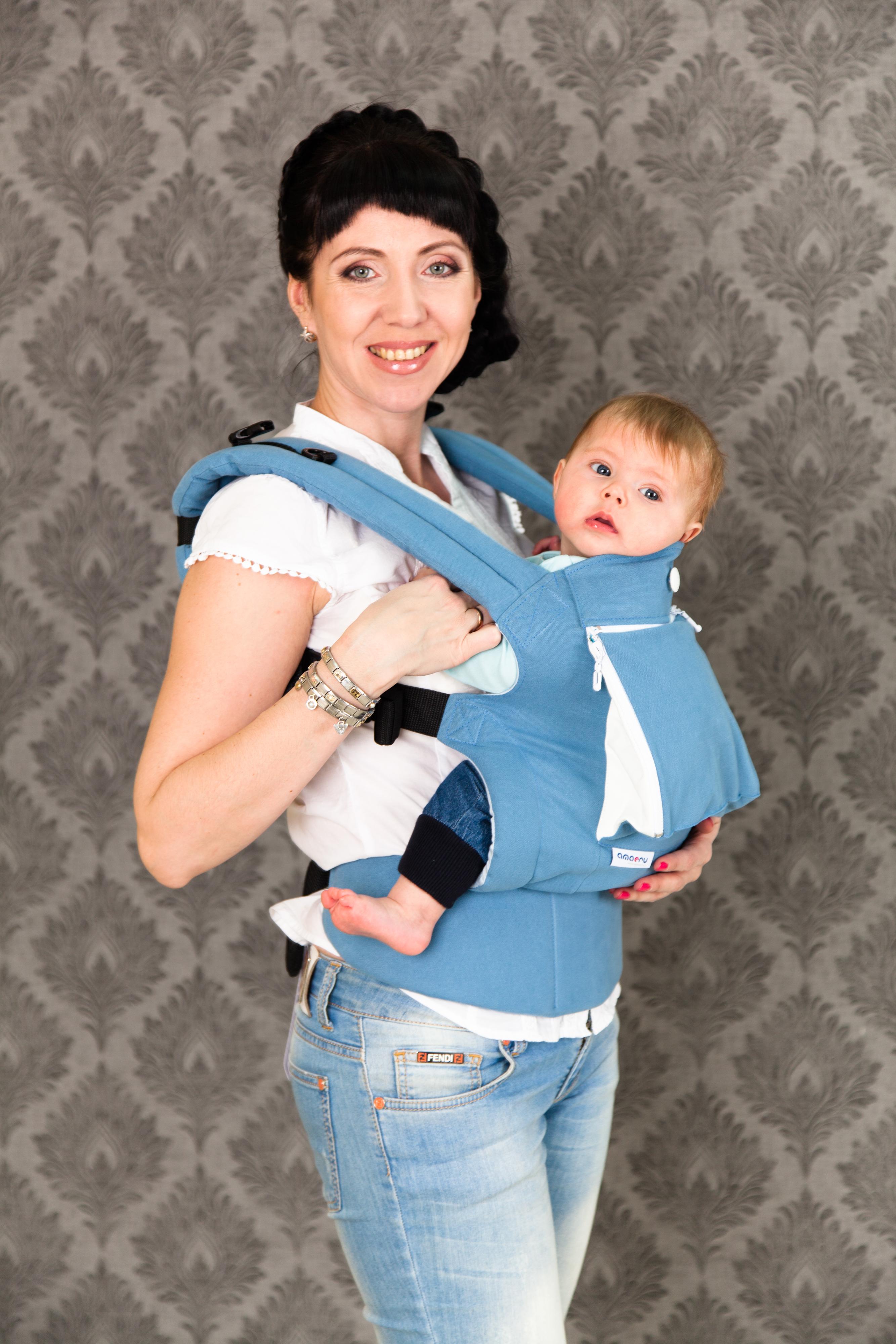 В рюкзаке-слинге amaeru купить рюкзак с гарфилдом