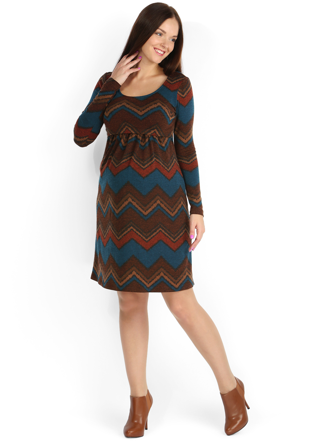 Тёплое платье для беременных 435