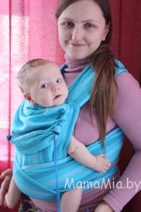 Май-слинг АКВА (шарфовый) ТМ «Гусленок»