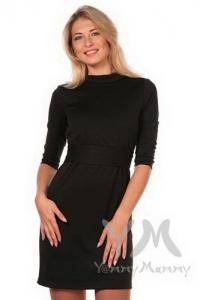 Платье с  вырезом на спине для кормящих. черное 324.2.3 Y@mmyMammy