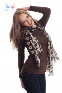 """Водолазка-туника флисовая """"Пантера"""" коричневая. 29$ (890 RUR) Теплая одежда для беременных и кормящих мам."""