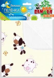 Детская впитывающая пеленка повышенной комфортности для кроватки 60*90 арт,34