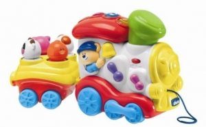 """Музыкальная игрушка """"Поющий поезд"""" Chicco. 9+"""