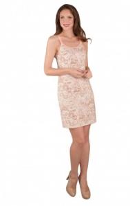 Сорочка послеродовая «Ева» с отстегивающимися бретелями. Цвет розовые узоры