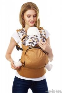 """Эргорюкзак (слинг-рюкзак) купить в Минске можно через интернет-магазин Мама Мия бай, Рюкзак-переноска """"Цветы"""" с вентилируемой спинкой. Цвет: оранж"""