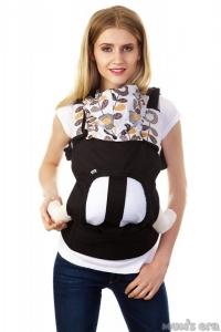 """Эргорюкзак (слинг-рюкзак) купить в Минске можно через интернет-магазин Мама Мия бай, Рюкзак-переноска """"Цветы"""" с вентилируемой спинкой. Цвет: черный"""