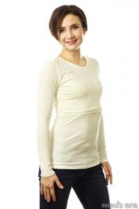 """Лонгслив """"Basic"""", молочный, для беременных и кормящих"""
