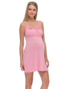 Ночная сорочка Ливия NEW розовая для беременных и кормящих