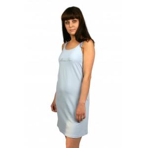 Сорочка послеродовая для кормящих мам. Голубая