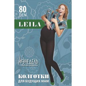 Колготки для беременных 80 LEILA, анатомическая вставка