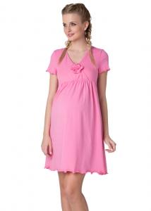 """Ночная сорочка """"Флорида""""розовая для беременных и кормящих мам Купить в Минске"""
