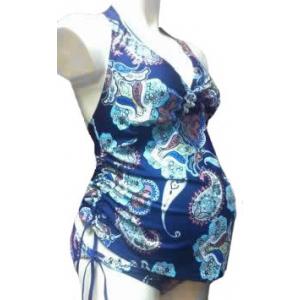 Купальник танкини синий для беременных и кормящих мам