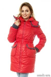 Зимняя куртка 3 в 1 «Герда» коралл для беременных женщин и слингоношения Под заказ