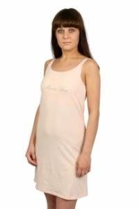 Сорочка послеродовая для кормящих мам. Персиковая