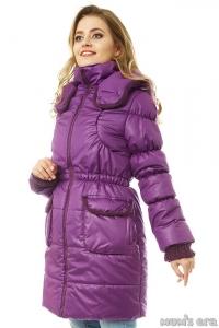 Зимняя куртка 3 в 1 «Герда» аметист для беременных женщин и слингоношения