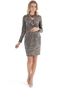 """Платье """"Жасмин""""серое с цветами  для беременных и кормящих , можно купить в Минске  или с пересылкой в любой уголок Беларуси."""