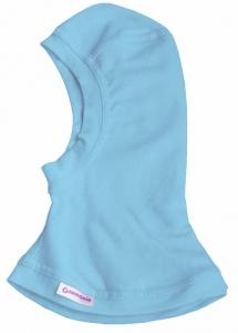Шапка-шлем трикотажный цвет голубой