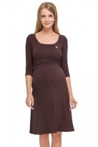 Платье для беременных и кормления грудью ПВ11 кофейное