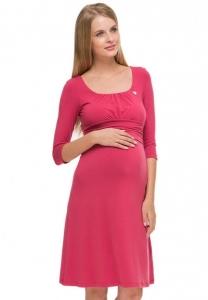 Платье для беременных и кормления грудью ПВ11 ягодное