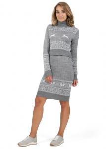 """Платье """"Сагдиана"""" серый меланж для беременных и кормящих купить"""