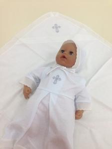 Комплект одежды для крещения мальчика