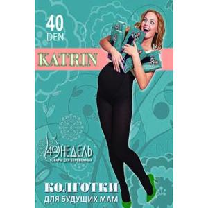 колготки для беременных женщин с анатомической вставкой, Колготки 40 Katrin, черный