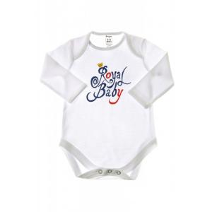 """Боди """"Royal baby"""", белое, длинный рукав"""