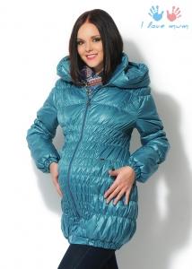"""Куртка 3в1 """"Сандра"""" морская волна для беременных и слингоношения"""