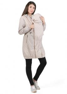 """Куртка демис. 3в1 """"Бонжур"""" бежевый орнамент для беременных и слингоношения"""