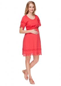 """Платье """"Бьянка"""" красное для беременных и кормящих мам арт.35492"""
