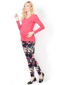 """Лонгслив """"Эжен"""" розовый для беременных и кормящих"""