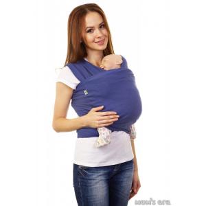 Слинг-шарф трикотажный «Фьорд» темно-синий, Трикотажный слинг-шарф купить в Минске можно через интернет-магазин Мама Мия бай