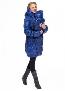 Зимняя куртка для беременных и слингоношения «Исландия», черно-синяя