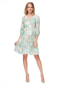 """Платье """"Аделфа"""" изумрудное для беременных и кормящих мам арт.35677"""