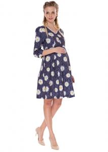 """Платье """"Аделфа""""т.синее для беременных и кормящих мам арт.35678"""