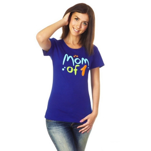 """Футболка """"Mom of 1"""" синяя, ТМ """"Ехидна"""""""
