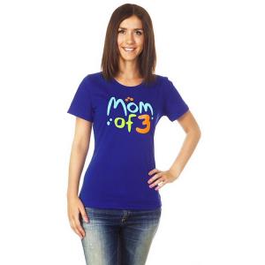 """Футболка """"Mom of 3"""" синяя, ТМ """"Ехидна"""""""