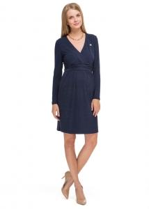 """Платье """"Жаннет"""" темно-синее для беременных и кормящих"""