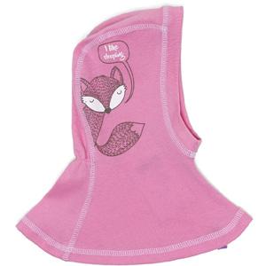 Шапка-шлем розовая с лисичкой