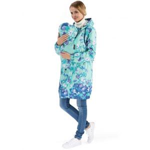 """Куртка демис. 3в1 """"Вуаля"""" цветы на ментоле для беременных и слингоношения"""