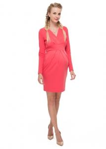 """Платье """"Жасмин"""" коралловое для беременных и кормящих , можно купить в Минске  или с пересылкой в любой уголок Беларуси."""