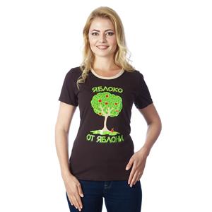 """Комплект прикольных футболок """"Яблоко от яблони..."""" (женская+детская,) дополнительная детская футболка 102 000 руб"""